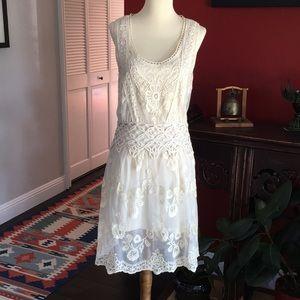 Massimo Dutti embroidered dress